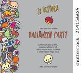 halloween stuff vector... | Shutterstock .eps vector #214156639