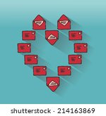 love letters in the shape of a... | Shutterstock .eps vector #214163869