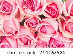 Bakcground Of Bouquet Of Pink...