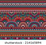 abstract vector tribal ethnic... | Shutterstock .eps vector #214165894