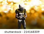 football player on a yellow... | Shutterstock . vector #214168309