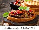 bruschetta caponata with... | Shutterstock . vector #214168795