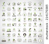 santa claus icons and elements... | Shutterstock .eps vector #214170385