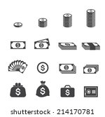 money icon | Shutterstock .eps vector #214170781