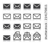 mail icon set | Shutterstock .eps vector #214170811