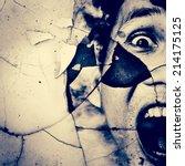 haunted horror background for... | Shutterstock . vector #214175125