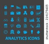 business analytics isolated... | Shutterstock .eps vector #214175605