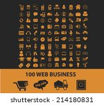 100 internet web business... | Shutterstock .eps vector #214180831