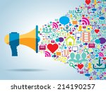 communication and promotion... | Shutterstock .eps vector #214190257