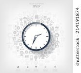 clock flat icon. world time... | Shutterstock .eps vector #214191874