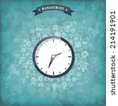 clock flat icon. world time... | Shutterstock .eps vector #214191901
