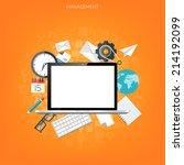 flat management background.... | Shutterstock .eps vector #214192099