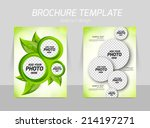 flyer back and front template... | Shutterstock .eps vector #214197271