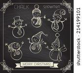 Set Of Chalk Snowmen....