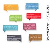set of colorful speech bubbles...