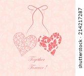 Hearts. Valentine Card. Love...