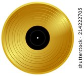 gold vinyl   music award ... | Shutterstock .eps vector #214222705