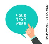 businessman hand with pointing... | Shutterstock .eps vector #214225039