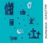 halloween flat infographic   Shutterstock . vector #214227799