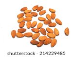 almonds. | Shutterstock . vector #214229485