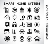 smart home system icons  home... | Shutterstock .eps vector #214237645