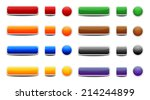 set of colored web buttons | Shutterstock .eps vector #214244899