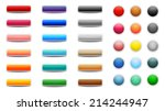 set of colored web buttons | Shutterstock .eps vector #214244947
