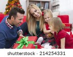 look  what is inside the gift...   Shutterstock . vector #214254331