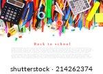 school tools and accessories on ... | Shutterstock . vector #214262374