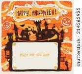 halloween party invitation...   Shutterstock .eps vector #214262935