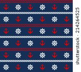 seamless pattern with nautical... | Shutterstock . vector #214264525
