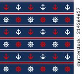 seamless pattern with nautical... | Shutterstock . vector #214264657
