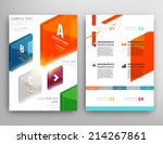 abstract triangle geometric... | Shutterstock .eps vector #214267861