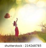 happy girl   Shutterstock . vector #214268785