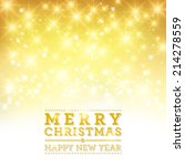 vector merry christmas and... | Shutterstock .eps vector #214278559