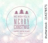 vector merry christmas and... | Shutterstock .eps vector #214278571
