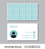 business card template | Shutterstock .eps vector #214280221