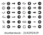 arrow sign icon set   black... | Shutterstock . vector #214292419