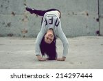 breakdance girl | Shutterstock . vector #214297444