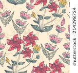 floral background. seamless... | Shutterstock .eps vector #214298734