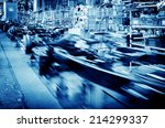 factory floor  car production... | Shutterstock . vector #214299337