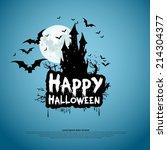happy halloween card template ... | Shutterstock .eps vector #214304377
