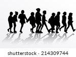 group of children | Shutterstock .eps vector #214309744