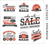 set of sale icon symbol and... | Shutterstock .eps vector #214311745