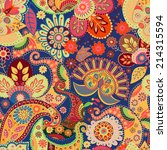 seamless ethnic pattern | Shutterstock . vector #214315594