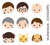 family face icon | Shutterstock . vector #214316491
