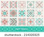 colourful seamless pattern set | Shutterstock .eps vector #214320325