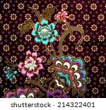 Flower Pattern Background On...