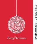 christmas bauble background | Shutterstock .eps vector #214324519