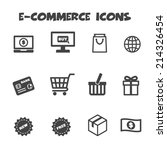 e commerce icons  mono vector... | Shutterstock .eps vector #214326454
